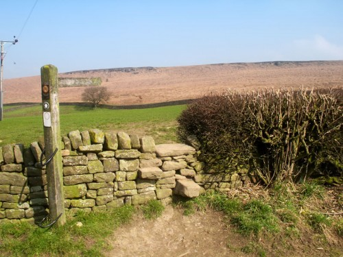 A Stone Stile between Beeley and Beeley Moor