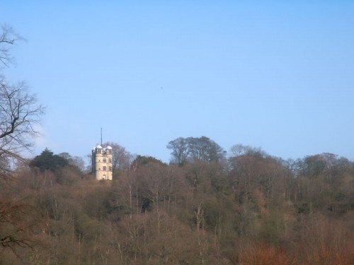 The Hunting Tower from Chatsworth Park
