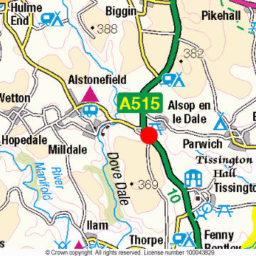 Alsop en le Dale Location Map