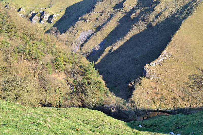 Coldeaton Dale and River Dove from Gypsy Bank