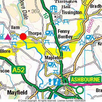 Dovedale Location Map