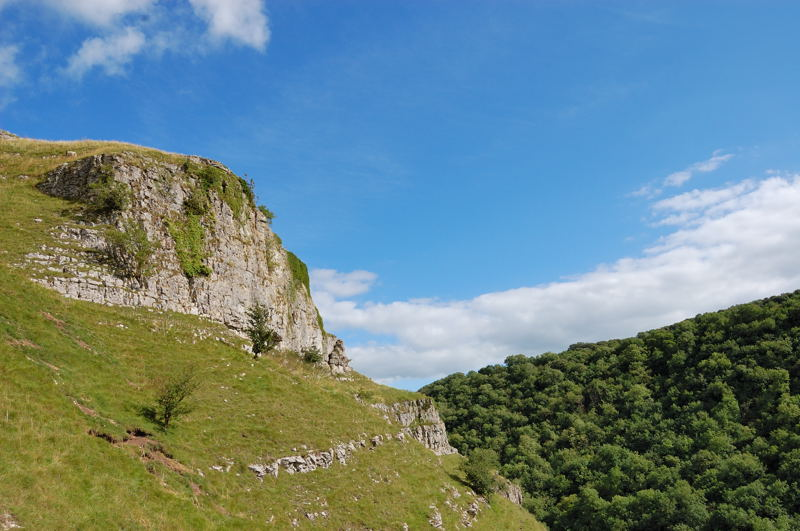 Limestone escarpment and ash woodlands in Lathkill Dale