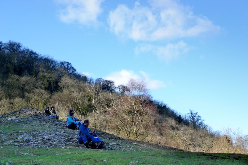 Walkers on Lover's Leap, Dovedale