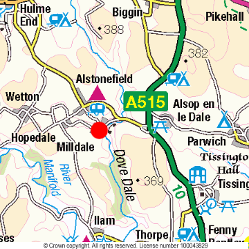 Milldale Location Map