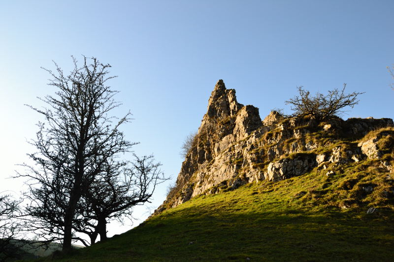 A Rocky Tor in Wolfscote Dale