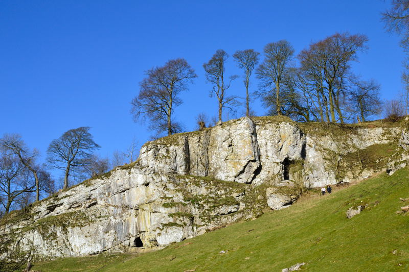 Limestone Caves in Wolfscote Dale