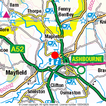 Ashbourne Location Map