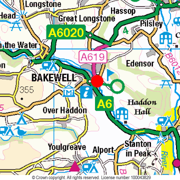 Bakewell Location Map
