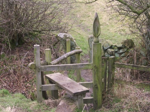 Carved Stile between Hartington and Sheen