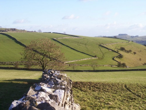 The path to Castern from Wetton Low