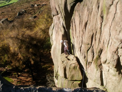 Rock Climber on The Roaches