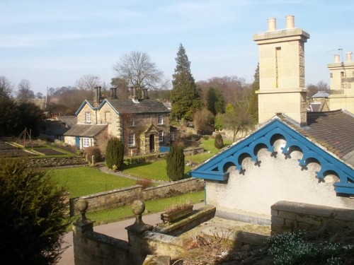 The original village of Edensor was demolished by the 4th Duke of Devonshire as it spoilt the view from the house.