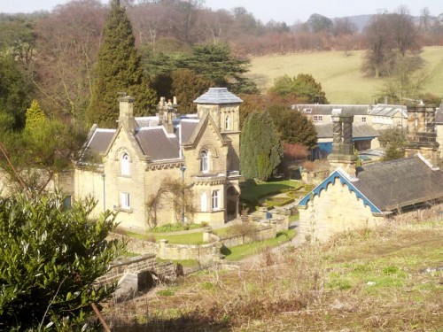 The estate village of Edensor was created by the 6th Duke of Devonshire. Each house in the village is individual, the designs by John Robertson range from Norman to Jacobean, Swiss-style to Italian villas.