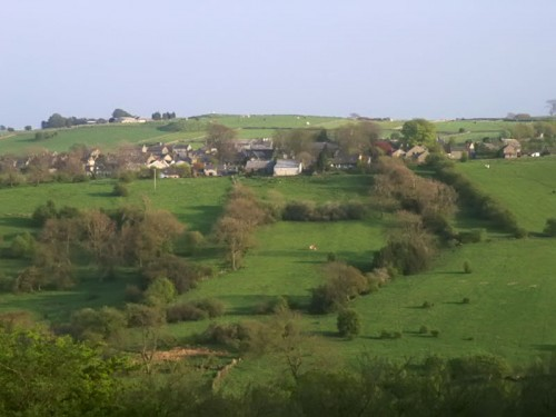 The village of Elton from the Limestone Way