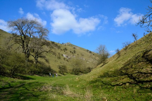 Footpath in the Dry Valley below Wetton Hill