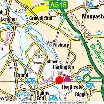 Hartington Location Map