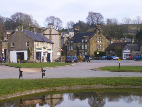 Hartington, Village Square and Mere. Markets were held on the square, it was granted a charter in 1203