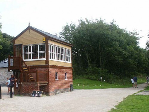 Hartington signal box and picnic area on the Tissington Trail