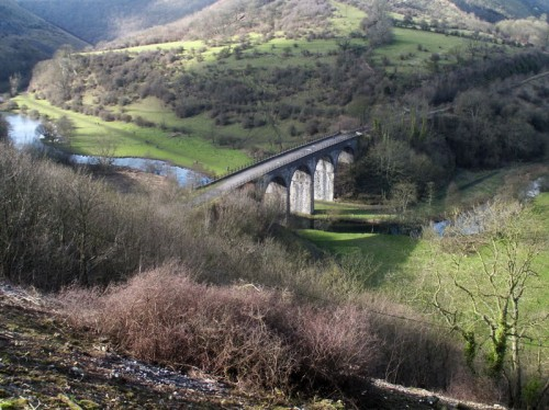 Headstone Viaduct and Monsal Dale from Monsal Head