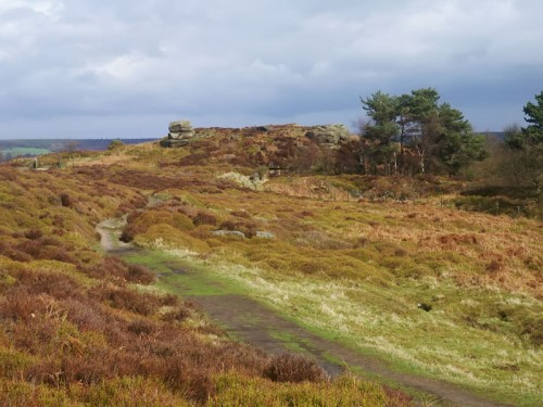 The heather clad plateau of Stanton Moor