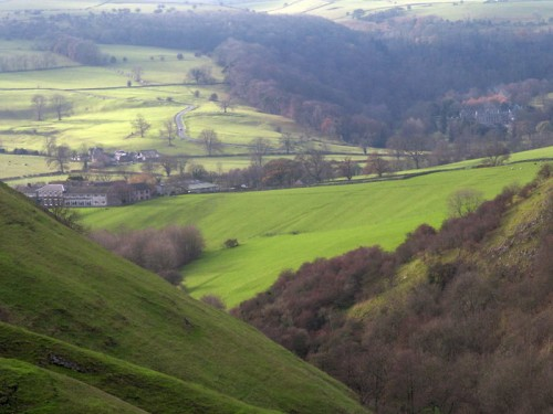 Ilam Hall from Thorpe Cloud