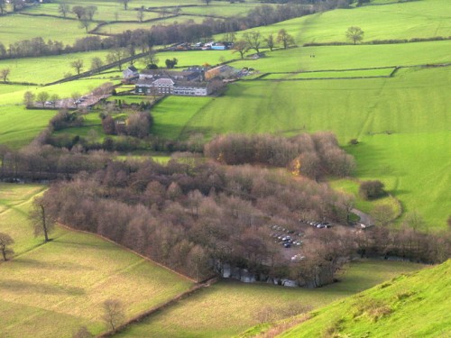 Izaak Walton Hotel from Thorpe Cloud