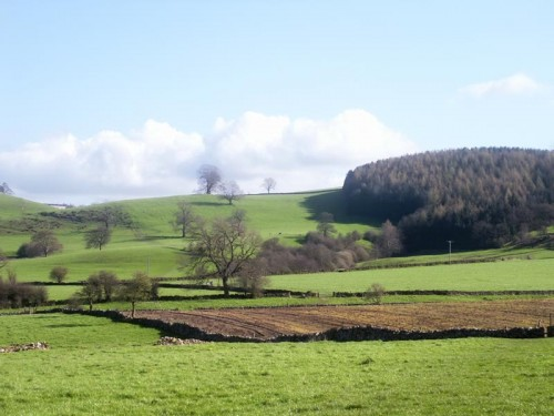 Looking North from Bradford Dale along The Limestone Way