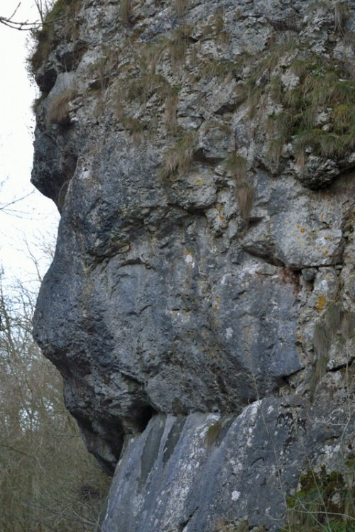Lion's Head Rock, seen at it's best when travelling north from Dovedale to Milldale.