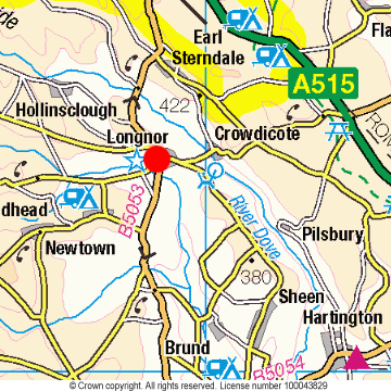 Longnor Location Map