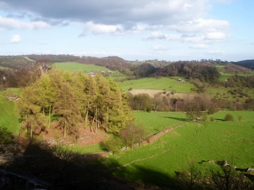 Looking towards Birchover from Robin Hood's Stride