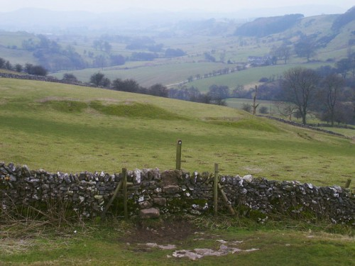 Looking south along the Upper Dove Valley towards Hartington