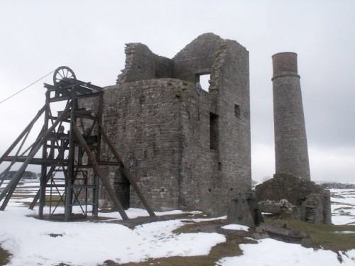 Magpie Mine located south of Sheldon in the Peak District is one of the most famous lead mines in the district.