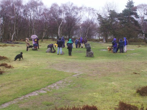 The Nine Ladies Stone Circle on Stanton Moor dates from the Bronze Age and is under the care of English Heritage