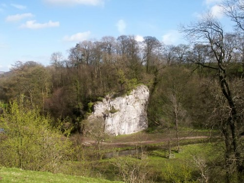 Rheinstor in Bradford Dale popular with rock climbers