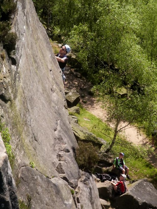 Rock Climbers on Froggatt Edge