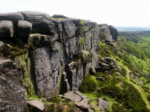 Sheer Rock Face on Curbar Edge