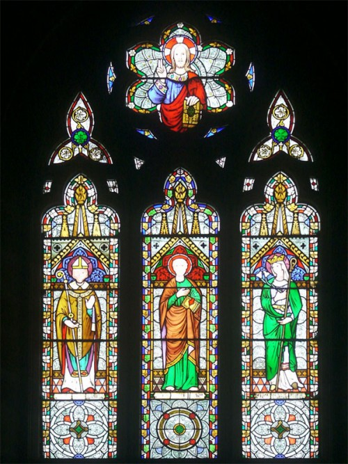 Stained glass by O'Connor at the Church of St Luke, Sheen