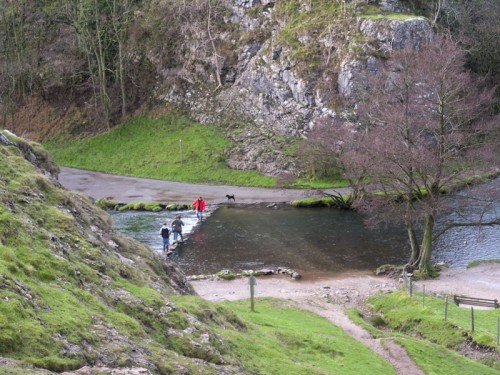 The stepping stones at Dovedale from Thorpe Cloud