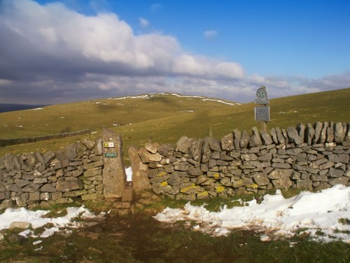 Stone stile on Wetton Hill