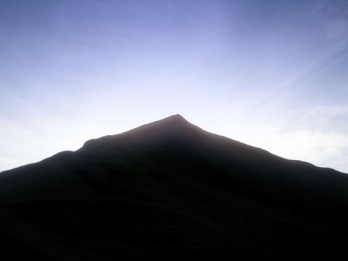Thorpe Cloud in Silhouette