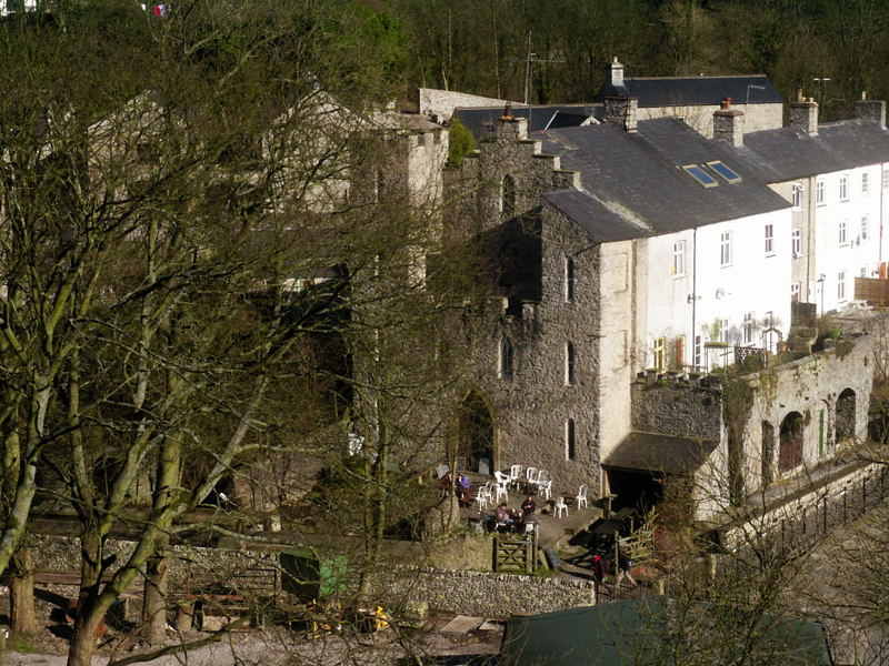 The Brew Stop situated behind Cressbrook Mill