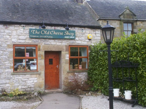 The Old Cheese Shop in Hartington. Now selling cheese made locally by Hartington Creamery