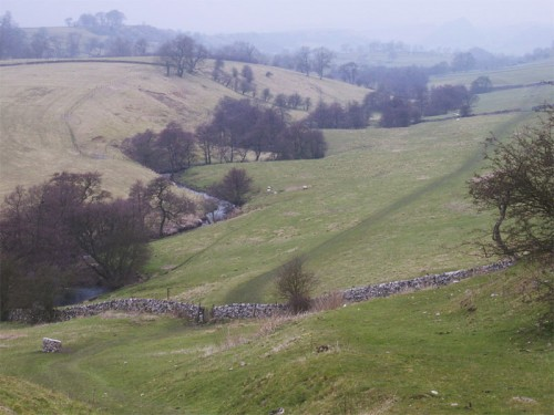 The Upper Dove Valley from Pilsbury Castle