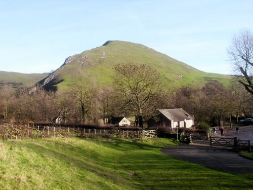 Thorpe Cloud from the car park at Dovedale