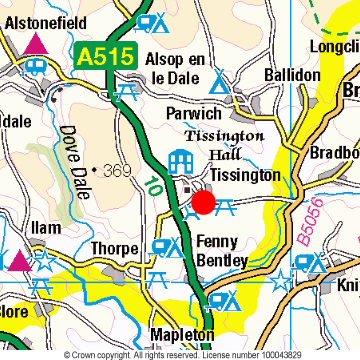 Tissington Location Map