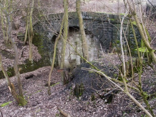 The entrance to the 'cut and cover' tunnel on the Matlock to Buxton railway line. The tunnel was dug to hide the railway so as not to spoil the environs of the nearby Haddon Hall.