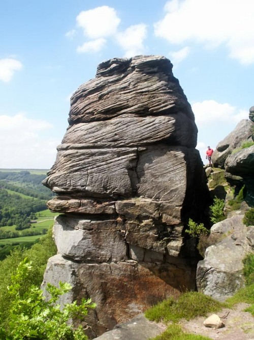 Valkyrie, Froggatt Pinnacle. The unmistakable square bulk of Froggatt Pinnacle is home to a classic rock climb and a set of other exciting routes.