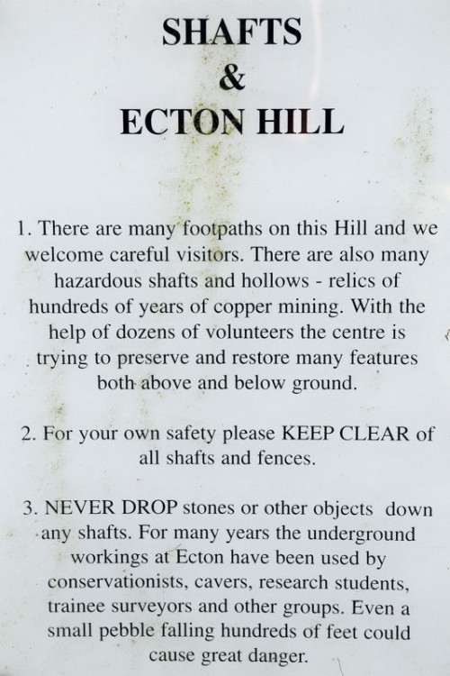 Warning Notice on Ecton Hill