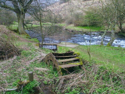 Old waterwheel on the River Wye in Monsal Dale