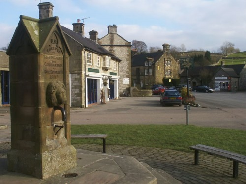 Hartington. The well shown here was erected to commemorate the coronation of King Edward in 1902